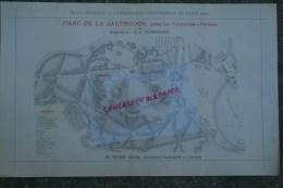 86-PARC DE LA JAUTRUDON -LA TRIMOUILLE-MAISONDIEU  - LIMOGES -RARE PLAN H. NIVET JEUNE- ARCHITECTE-PAYSAGISTE-PARIS 1900 - Arquitectura