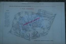 - 87- LIMOGES - RARE PLAN H. NIVET JEUNE- ARCHITECTE-PAYSAGISTE- EXPOSITION UNIVERSELLE PARIS 1900- PLANS DE JARDINS - Arquitectura