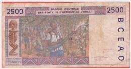 AFRIQUE De L´ OUEST - COTE D'IVOIRE - 2.500 Francs De 1994 - Pick 112A C - Billets