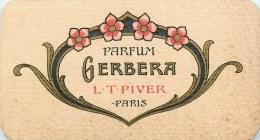 CARTE PARFUMEE GERBERA L.T. PIVVER + CALENDRIER AU DOS ANNEE 1923-1924 PARFUM - Vintage (until 1960)