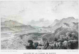 Savoie - Vallée De La COMBE De SAVOIE  - Dessin De  Loppé - Liho.de Champod  Originale De La Savoie Historique Et Pit - Lithographies