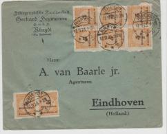Inf308 Mi.Nr. 327 B (8 X) 1.11.23, 4-fach Aufgewertet - Deutschland