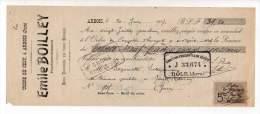 Mandat - Usine De Cesy, Bois Tournée, Emile Boilley, Arbois 1907 - France