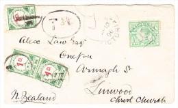 OZ Australien Victoria 10.4.1900 Lara Taxierter Brief Nach Christ Church Neuseeland - 1850-1912 Victoria