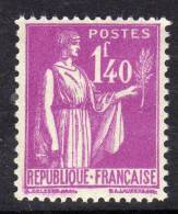 France Type Paix : N° 371 XX 1 F. 40  Lilas,  Très Bon Centrage TB - 1932-39 Paz