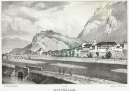 Savoie - MONTMELIAN   Dessin De  Loppé - Liho.de J.Werner- Litho. Originale De La Savoie Historique Et Pit - Lithographies