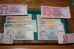 LOT EXCEPTIONNEL DE 21 BILLETS DES BALKAN DE 1990 A 1993 - Monete & Banconote