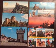 SAN MARINO - LOTTO DI SETTE CARTOLINA ANNI 70 TUTTE VIAGGIATA IN TARIFFA - OCCASIONE - San Marino