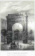 Savoie  AIX Les BAINS ARC DE POMPEIUS CAMPANUS  Dessin Et Liho.de J. Werner  Litho. Orig. De La Savoie Historique Et Pit - Lithographies