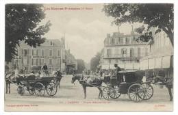 CPA  - TARBES, PLACE MAUBOURGUET - Hautes Pyrénées 65 - Animée, Commerces, Attelages, Chevaux - Cl. Tranteul - Tarbes