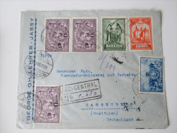 Rumänien Bedarfsbeleg 1929 MiF. Ausgabe 10. Jahrestag Vereinigung Siebenbürgen - Rumänien. Nr. 351. 10 Lei - Covers & Documents