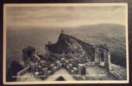 SAN MARINO 1946 - TERZA TORRE VISTA DALLA SECONDA ROCCA - SERIE ED ANNULLO I CONVEGNO FILATELICO - San Marino