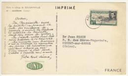 Post-card Da Ascension Per La Francia Con 1 D Re Giorgio - Ascensione