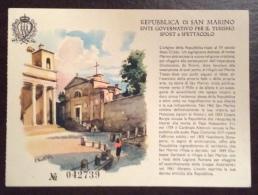 SAN MARINO - EDIZIONE NUMERATA DELL'ESTE GOVERNATIVO PER IL TURISMO - San Marino