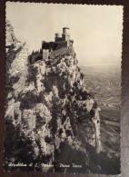 SAN MARINO - PRIMA TORRE - EDITORE A.BELICCHI - VIAGGIATA 1956 - San Marino