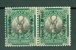 South West Africa: 1926   Springbok   SG41   ½d   [Perf: 14½ X 14]  MNH Pair - Zuidwest-Afrika (1923-1990)