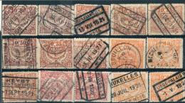 _5Ss-976: Restje Van 15 Zegels: Uitgifte Malines: Om Verder Uit Te Zoeken..HEYST, BOUILLON, QUEVAUCAMPS, ... - 1915-1921