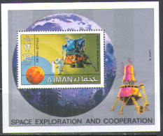 1638 Space Raumfahrt Weltraum Apollo Luna 16 Ajman S/s MNH ** 8,5ME - Asia