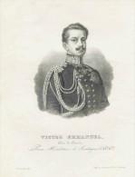 Savoie  VICTOR  EMMANUEL Duc De Savoie   Litho De J.Aubert &Cie Chambéry. Dessin De P.Courtois - Lithographies