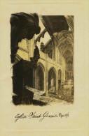 2  GRAVURES  AQUATINTE - EGLISE SAINT GERVAIS  Paris - Bombardée Par Canons Le 29 Mars 1918 - Engravings
