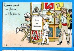 LIP339,Chacun Prend Son Plaisir Où Il Se Trouve,Le Rire,20, Carte Publicitaire R. Quesvert Fils Vêtements, Non Circulée - Humour
