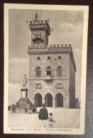 SAN MARINO - PALAZZO GOVERNATIVO   - VIAGGIATA 1924- EDITORE A.REFFI - San Marino