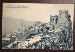 SAN MARINO - PANORAMA DOPO UNA NEVICATA   - VIAGGIATA 1928 - EDITORE A.REFFI - San Marino