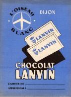 LANVIN  Chocolat . Protège-cahiers - 2 Scann - L´oiseau Blanc - Protège-cahiers