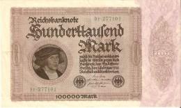 BILLETE DE ALEMANIA DE 100000 MARK DEL AÑO 1923 EN CALIDAD EBC (XF) (BANKNOTE) - [ 3] 1918-1933 : República De Weimar