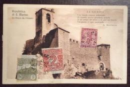 SAN MARINO - LA ROCCA DA PONENTE - VERSI DI MASTELLA   - 1923 - EDITORE  RUFO REFFI - San Marino