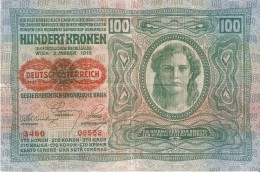 BILLETE DE AUSTRIA DE 100 KORONA DEL AÑO 1912 (BANK NOTE) - Oesterreich