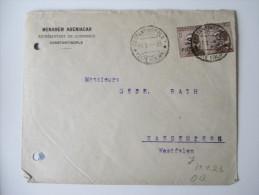 Italien / Post In Der Levante  1922 Nr. 75 Waagerechtes Paar.MeF.Constantinople - Sassenberg.Aufdruck Teilweise Fehlend - Bureaux D'Europe & D'Asie