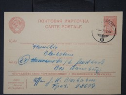 RUSSIE-Entier Postal Utilisé Par Un Allemand Au Front En Ukraine Pour Sa Femme En Allemagne En 1944  Rare   P5877