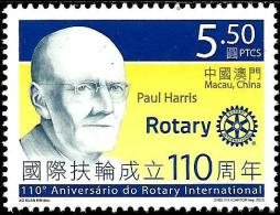 Macao - 2015 - 110th Anniversary Of Rotary International - Fighting Polio - Mint Stamp - 1999-... Región Administrativa Especial De China