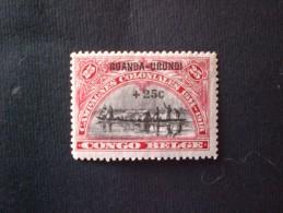 "STAMPS RUANDA URUNDI 1925 Belgian Congo Postage Stamps Overprinted ""RUANDA - URUNDI"" MNH"