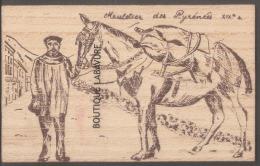 GRAVURE SUR BOIS--Muletier Des Pyrénées----Les Pyrenées D´hier-- - Cartes Postales