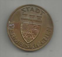 Medaille , STADT WERMELSKIRCHEN , Zur Erinnerung , 2 Scans , Frais France : 2.50€ - Duitsland
