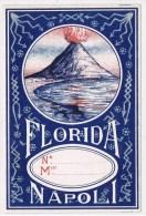 13152. Etiqueta Textil, Propaganda 1900.  FLORIDA Di NAPOLI. Volcan Vesubio - Publicidad