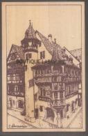 GRAVURE SUR BOIS--68 --COLMAR--Alsace -Maison Pfister - Cartes Postales