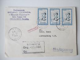Marokko 1961 MeF Beleg Nach Deutschland. Etablissements Benno Coenca. Deutsche Einfuhren. - Marokko (1956-...)