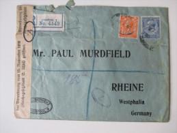 GB 1920 Registered Letter Mit Perfins. Zensur: Verordnung Vom 15. November 1918 Geöffnet. Mit Siegel - 1902-1951 (Könige)