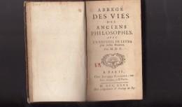 1 LIVRE DE 1726 / ABREGE DES VIES DES ANCIENS PHILOSOPHES - Books, Magazines, Comics