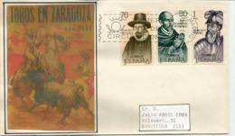 ESPAGNE. Les Conquistadors Espagnols (Pizzaro,Toledo,Mogrovejo) Lettre FDC Adressée à Barcelone - American Indians