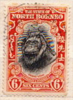 North Borneo Used Stamp - Monkeys