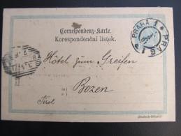 GANZSACHE  Praha - Bozen 1901 J.Neff Korrespondenzkarte  ///  D*16558 - 1850-1918 Imperium