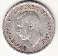 CANADA  1939    25 CENT. GEORGE VI.ARGENT(PLATA)  TTB. CN 4366 - Canada