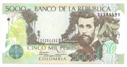 Colombia 5000 Pesos 2012 UNC - Colombie