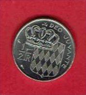 MONACO - 1/2 Franc (50 Centimes) Nickel - Prince Rainier III De Cauchet - 1974 - Monaco