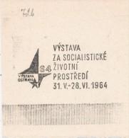 J1971 - Czechoslovakia (1945-79) Control Imprint Stamp Machine (R!): The Exhibition In The Socialist Environment 1964 - Umweltschutz Und Klima