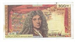 SPECIMEN BILLET 500 NOUVEAUX FRANCS MOLIERE 100-00-1968.0 - RARE - 500 NF 1959-1966 ''Molière''